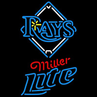 Miller Lite Tampa Bay Rays MLB Beer Sign Neon Sign