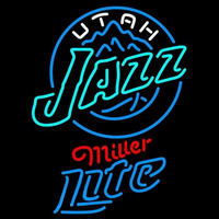 Miller Lite Utah Jazz NBA Beer Sign Neon Sign