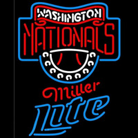 Miller Lite Washington Nationals MLB Beer Sign Neon Sign