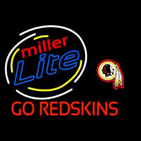 Miller Lite Washington Redskins Go Redskins Neon Sign Neon Sign