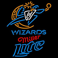 Miller Lite Washington Wizards NBA Beer Sign Neon Sign