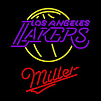Miller Los Angeles Lakers NBA Beer Sign Neon Sign