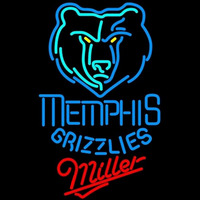 Miller Memphis Grizzlies NBA Beer Sign Neon Sign