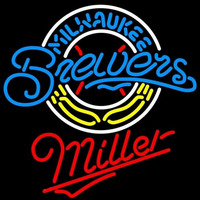 Miller Milwaukee Brewers MLB Beer Sign Neon Sign