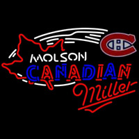 Miller Molson Montreal Canadiens Hockey Beer Sign Neon Sign
