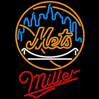 Miller New York Mets MLB Beer Sign Neon Sign