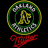 Miller Oakland Athletics MLB Beer Sign Neon Sign