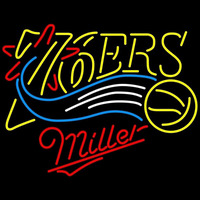Miller Philadelphia 76ers NBA Beer Sign Neon Sign