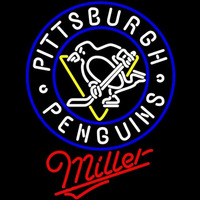 Miller Pittsburgh Penguins Beer Sign Neon Sign