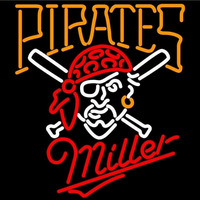 Miller Pittsburgh Pirates MLB Beer Sign Neon Sign