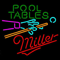 Miller Pool Tables Billiards Beer Sign Neon Sign