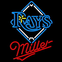 Miller Tampa Bay Rays MLB Beer Sign Neon Sign
