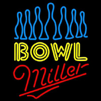 Miller Ten Pin Bowling Beer Sign Neon Sign