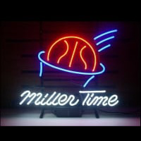Miller Time Basketball Neon Sign