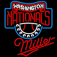 Miller Washington Nationals MLB Beer Sign Neon Sign