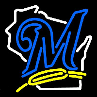 Milwaukee Brewers Alternate 2000 Pres Logo MLB Neon Sign Neon Sign