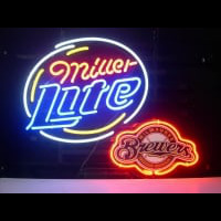Milwaukee Brewers Miller Lite Beer Neon Light Neon Sign
