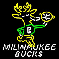 Milwaukee Bucks Primary 1968 69 1992 93 Logo NBA Neon Sign Neon Sign