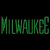 Milwaukee Bucks Wordmark 2006 07 Pres Logo NBA Neon Sign Neon Sign