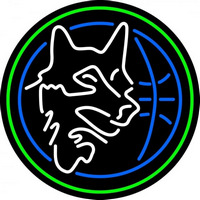 Minnesota Timberwolves Alternate 1989 90 1995 96 Logo NBA Neon Sign Neon Sign