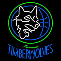 Minnesota Timberwolves Primary 1989 90 1995 96 Logo NBA Neon Sign Neon Sign
