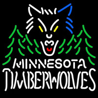 Minnesota Timberwolves Primary 2008 09 Pres Logo NBA Neon Sign Neon Sign