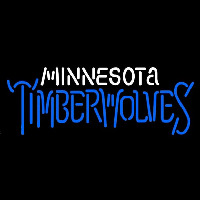 Minnesota Timberwolves Wordmark 1996 97 2007 08 Logo NBA Neon Sign Neon Sign