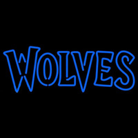 Minnesota Timberwolves Wordmark 2008 09 Pres Logo NBA Neon Sign Neon Sign