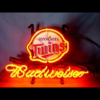Minnesota Twins Baseball Budweiser Beer Neon Light Sign Neon Sign