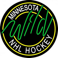 Minnesota Wild Alternate 2000 01 2009 10 Logo NHL Neon Sign Neon Sign