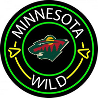 Minnesota Wild Alternate 2003 04 Pres Logo NHL Neon Sign Neon Sign