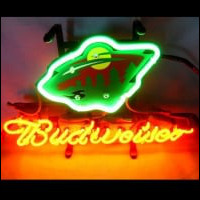 Minnesota Wild Hockey Budweiser Font B Neon B Font Light Neon Sign
