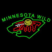 Minnesota Wild Primary 2000 01 Pres Logo NHL Neon Sign Neon Sign