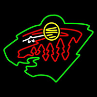 Minnesota Wild Secondary 2000 01 Pres Logo NHL Neon Sign Neon Sign
