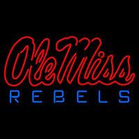 Mississippi Rebels Alternate 1996 Pres Logo NCAA Neon Sign Neon Sign