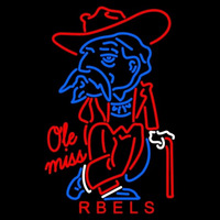 Mississippi Rebels Primary 1970 1995 Logo NCAA Neon Sign Neon Sign