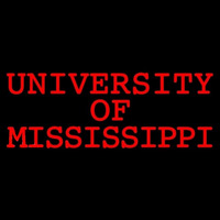 Mississippi Rebels Wordmark 0 Pres Logo NCAA Neon Sign Neon Sign