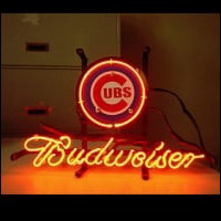 Mlb Chicago Cubs Baseball Budweiser Beer Bar Neon Light Sign Neon Sign