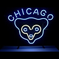 Mlb Chicago Cubs Retro Neon Bar Pub Sign Neon Sign