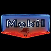 Mobil Gasoline Neon Sign