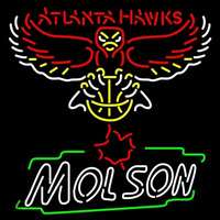 Molson Atlanta Hawks NBA Beer Sign Neon Sign