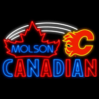 Molson Calgary Flames Real Neon Glass Tube Neon Signs Neon Sign