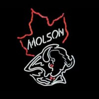 Molson Canadian Bulls Neon Sign
