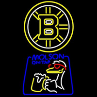 Molson Canadian With Boston Bruins Logo Beer Sign Neon Sign