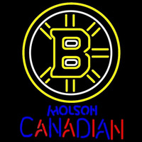 Molson Canadian With Boston Bruins NHL Beer Sign Neon Sign