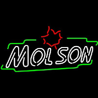 Molson Double Stroke Maple Neon Sign