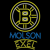 Molson Excel With Boston Bruins Beer Sign Neon Sign