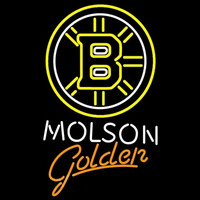 Molson Golden With Boston Bruins Beer Sign Neon Sign