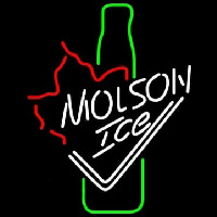 Molson Ice Bottle Neon Sign