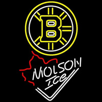 Molson Ice Maple Leaf With Boston Bruins Beer Sign Neon Sign